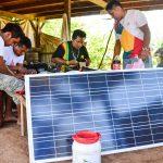 Nouveaux kits solaires à Saül